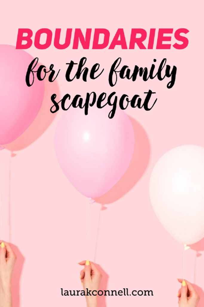 boundaries for the family scapegoat
